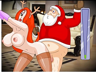 Santa Claus Enjoying His Christmas Presents Hentai Game