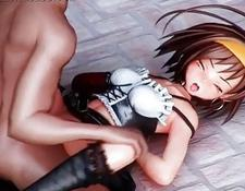 3d Anime 3some With Teen Getting Wet Cunt Fucked