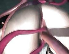 3D Pussy And Ass Destroyed By Tentacles!