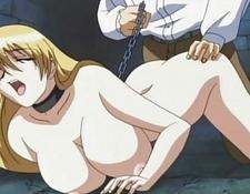 Hentai Anime Blonde Chained And Spanked In Dungeon