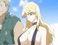 Busty Anime Gets Squeezed Her Bigtits In The Beach