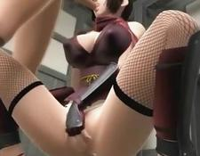 3D Busty Girl Gives Titty Fuck!