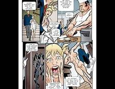 Busty Blonde Sexual Bondage Comic Cartoon