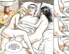 Comic Sexual Horny Blonde Sex Orgy