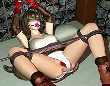 Hottie 3D Hentai Slave Gets Nailed Hard