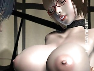 Stockinged Busty 3d Hentai Whore Gives Bj
