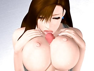 Horny 3d Hentai Bitch Gives Boobjob