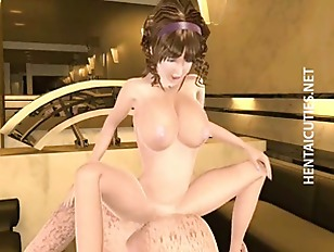 Busty 3d Hentai Slut Gets Nailed Hard
